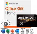 Deals List: Microsoft Office 365 Home   12-month subscription with Auto-Renewal + $50 Amazon.com Gift Card
