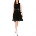 Deals List: Calvin Klein Faux-Suede & Faux-Leather Fit & Flare Dress