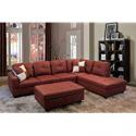 Deals List: Beverly Fine Funiture Sectional Sofa Set, 94B Burgundy
