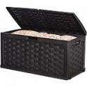 Deals List:  Starplast 88 Gal. Plastic Black Rattan Deck Box