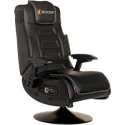 Deals List: X Rocker Pro Series 2.1 Vibrating Black Leather Foldable Video Gaming Chair with Pedestal Base and Headrest for Adult, Teen, and Kid Gamers - High Tech Audio and Wireless Capacity - Ergonomic Back Support