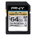 Deals List: PNY Elite Performance 64GB Flash Memory High Speed SDXC Class 10 UHS-I (P-SDX64U395-GE)