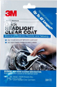 Deals List: 3M Quick Headlight Clear Coat, Extreme UV Protection Prevents Lens Yellowing, 1 Sachet