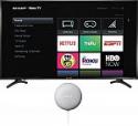 "Deals List: Sharp - 50"" Class - LED - 2160p - Smart - 4K UHD TV with HDR - Roku TV, LC-50LBU711U + Google Nest Mini"