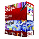 Deals List: Sharpie Permanent Markers Ultimate Collection, Fine and Ultra Fine Points, Assorted Colors, 72 Count