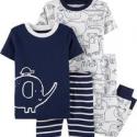 Deals List: 2 Carters 4-Piece Elephant Snug Fit Cotton PJs