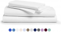 Deals List: Comfy Sheets 100% Egyptian Cotton Sheets - 1000 Thread Count 4 Pc Queen White Bed Sheet with Pillowcases, Premium Hotel Quality Fits Mattress Up to 18'' Deep Pocket.