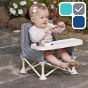 Deals List: hiccapop Omniboost Travel Booster Seat with Tray for Baby | Folding Portable High Chair for Eating, Camping, Beach, Lawn, Grandma's | Tip-Free Design Straps to Kitchen Chairs - Go-Anywhere High Chair