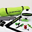 Deals List:  Dunlop Quick Setup Competitive Volleyball Set with Carry Bag, Volleyball, Inflation Pump, and Net Tension Adjustment System
