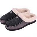 Deals List: HomeTop Men's Cozy Fuzzy Wool Fleece Slippers Slip On Clog