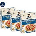 Deals List: 3-Pack Quaker Oatmeal Squares Breakfast Cereal 14.5 oz