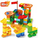 Deals List: 90-Pcs Ranphykx Learning Colors Blocks Toys with Marble Run
