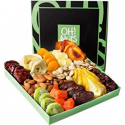 Deals List: Holiday Nut and Dried Fruit Gift Basket, Healthy Gourmet Snack Christmas Food Box, Great for Birthday, Sympathy, Family Parties & Movie Night or as a Corporate Tray - Oh! Nuts