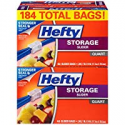 Deals List: Hefty Slider Storage Bags, Quart Size, 4 Boxes of 46 Bags (184 Total)