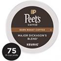 Deals List: Peet's Coffee Major Dickason's Blend, Dark Roast, 75 Count Single Serve K-Cup Coffee Pods for Keurig Coffee Maker