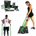 Deals List: BodyBoss 2.0 - Full Portable Home Gym Workout Package + Resistance Bands - Collapsible Resistance Bar, Handles - Full Body Workouts for Home, Travel or Outside