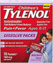 Deals List: Children's Tylenol Acetaminophen Dissolve Packets, Wild Berry, 18 ct