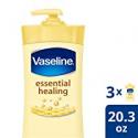 Deals List: Vaseline Body Lotion, Essential Healing, 20.3 Fl Oz (Pack of 3)