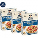 Deals List: Quaker Oatmeal Squares Breakfast Cereal, Brown Sugar, 14.5oz Boxes (3 Pack)