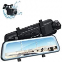 Deals List: AUKEY Backup Camera 9.6-in Touch FHD Dual Mirror Dash Cam