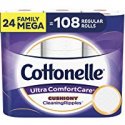 Deals List: Cottonelle Ultra Gentlecare Toilet Paper with Gentle Cleaningripples, 24 Family Mega Rolls, Sensitive Bath Tissue with Aloe & Vitamin E