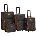 Deals List: Rockland Luggage 4 Piece Set, Charcoal, One Size