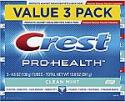 Deals List: Crest Pro-Health Smooth Formula Toothpaste, Clean Mint, 4.6 oz, 3 Count