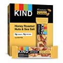 Deals List: KIND Bars, Honey Roasted Nuts & Sea Salt, Gluten Free, Low Sugar, 1.4oz, 12 Count