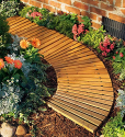 Deals List: Plow & Hearth 52128 Roll Out Wooden Curved Garden Pathway, Natural Cedar