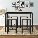 Deals List: Harper & Bright Designs 5-Piece Beige Wood and Metal Dining Set