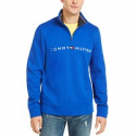 Deals List: Tommy Hilfiger Mens Logo French Rib Quarter-Zip Pullover