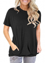 Deals List: onlypuff Pocket Shirts for Women Casual Loose Fit Tunic Top Baggy Comfy Blouse