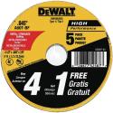 Deals List: DEWALT Cutting Wheel, General Purpose Metal Cutting, 4-1/2-Inch, 5-Pack (DW8062B5)