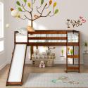 Deals List: Harper & Bright Designs Wood Twin Loft Bed w/ Slide (Walnut)
