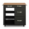 Deals List: Home Styles Storage Plus Black Kitchen Cart