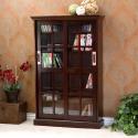 Deals List: Sliding Door Media Cabinet - 4 Adjustable Shelves - Expresso Wood Finish