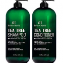 Deals List: Botanic Hearth Tea Tree Shampoo and Conditioner Set - with 100% Pure Tea Tree Oil, for Itchy and Dry Scalp, Sulfate Free, Paraben Free - for Men and Women - 2 bottles 16 fl oz