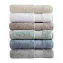 Deals List: 6-Pcs Remy Cotton Super Soft Solid Solid Bath Towel Set