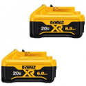 Deals List: 2-Pack DEWALT 20-Volt MAX XR Lithium-Ion Battery Pack 6.0Ah