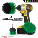 Deals List: Drillbrush Green Kitchen Cleaning Drill Brushes - Stainless Steel Sink Cleaner/Copper Sink Cleaner - Electric Stove Cleaner/Gas Stove Cleaner - Kitchen Cleaner/Kitchen Brush - Cabinet Cleaner