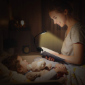Deals List: Vekkia Rechargeable 6 Warm LED Book-Light, 3000K Eye-Care Easy Clip on Lamp Reading in Bed, 3 Brightness, Up to 60 Hrs, 2.1 oz Light-weight. Perfect for Bookworms