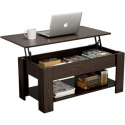Deals List: Modern Wood Lift Top Coffee Table with Hidden Compartment and Lower Shelf
