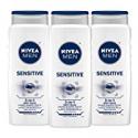 Deals List: NIVEA Men Sensitive 3-in-1 Body Wash 16.9 Fluid Ounce (Pack of 3)