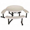 Deals List: Lifetime 44 in. Round Picnic Table with 3 Benches