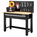 Deals List: Husky 4 ft. Solid Wood Top Workbench with Storage