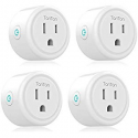 Deals List: Smart Plug Gosund 16A Wifi Outlet Work with Alexa Google Home,4 Pack Mini Socket with Timer Function and Overload Protection, FCC ETL Certification Only Supports 2.4GHz Network