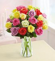 Deals List: Two dozen mixed roses with vase