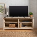 """Deals List: Manor Park Wood TV Media Storage Stand for TV's up to 64"""" - White Oak"""