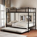 Deals List: Harper & Bright Designs Twin Over Twin Metal Bunk Bed w/ Trundle