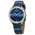 Deals List: Ferragamo Cuir Blue Elaphe Dial Ladies Watch SFNE00119